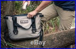 Yeti Hopper 20 Grey Cooler Soft Sided Lighter Weight Portable Tailgating NIB