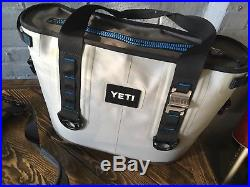 Yeti Hopper 20 Soft Side Cooler Fog Gray YHOP20G Used With Molle Bottle Opener