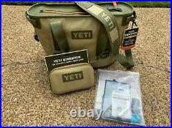 Yeti Hopper 20 Soft Side Cooler + Sidekick Field Tan with ALL ORIGINAL PACKAGING