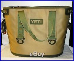 Yeti Hopper 30 Portable Cooler YHOPT30 Field Tan/Blaze Orange NEW
