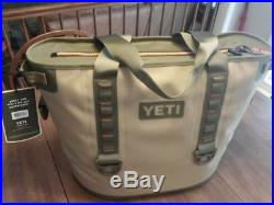 Yeti Hopper 30 Rugged Soft Sided Ice Chest Cooler Tan/Orange