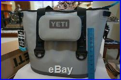 Yeti Hopper 30 Soft Cooler With Sidekick Dry Bag! Excellent New Condition Gray