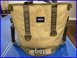 Yeti Hopper 40 Portable Cooler Field Tan / Blaze Orange Gently Used