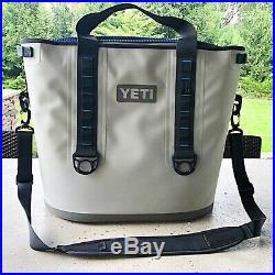 Yeti Hopper 40 Portable Cooler Fog Grey/Tahoe Blue With Sidekick And Opener