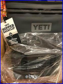 Yeti Hopper BackFlip 24 Backpack Cooler Charcoal New Full Box