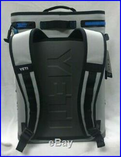 Yeti Hopper BackFlip 24 Soft Back Pack Cooler Fog Gray/Blue New 888830025604