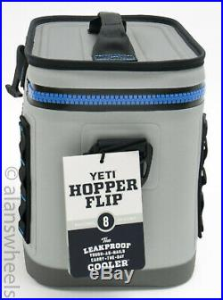 Yeti Hopper Flip 8 Soft Cooler Fog Gray Tahoe Blue Brand New! Free Shipping