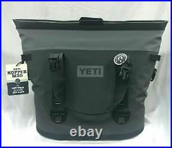 Yeti Hopper M30 Wide Mouth Cooler Magnetic Seal Charcoal