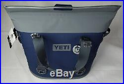 Yeti Hopper M30 Wide Mouth Cooler Magnetic Seal Navy Blue NEW WITH TAGS