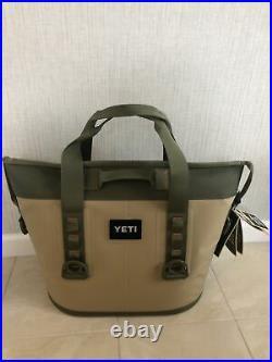 Yeti Hopper Two 20 Portable Soft Cooler Field Tan / Blaze Orange NIB with Tags