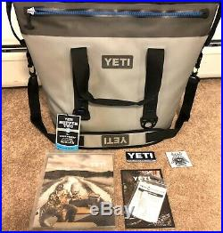 Yeti Hopper Two 40 (Gray) Cooler Bag Soft Hydrolok Zipper Used Twice