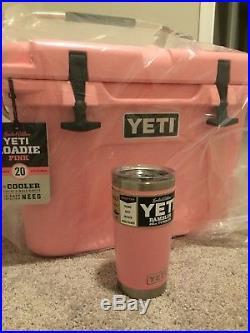 Yeti Roadie 20 cooler PINK And Rambler FREE Shipping