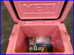 Yeti Roadie Cooler 20 Limited Edition Pink Yeti Hat Sold Out New