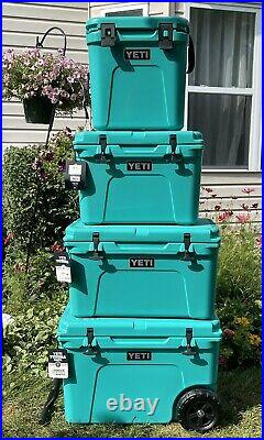 Yeti Tundra 35/45/Haul/Roadie Hard Cooler Aquifer Blue Collection -4 Coolers