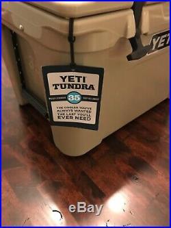 Yeti Tundra 35, Dessert Tan Cooler BUNDLE/LOT x4 Yeti Ramblers