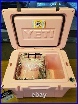 Yeti Tundra 35 Limited Edition PINK Hard Cooler NWT with new Pink Yeti Hat