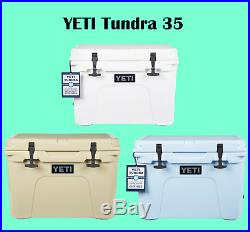 Yeti Tundra 35 quart Cooler Ice Chest - White Tan Ice Blue - YT35W YT35T YT35B
