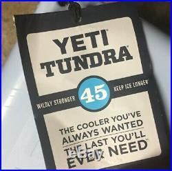 Yeti Tundra 45 Cooler Ice Chest Ice Blue