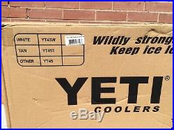 Yeti Tundra 45 Cooler- White with SeaDek included! Brand New