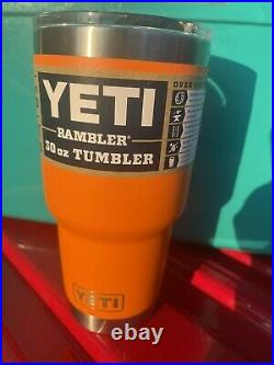 Yeti Tundra 45 Hard Cooler Aquifier Blue + King Crab Orange 30oz. Rare
