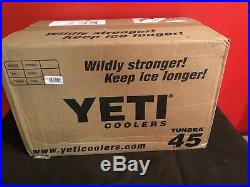 Yeti Tundra 45 QT Cooler With Basket Blue YT45C Limited Edition New Retail $349