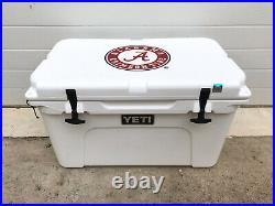 Yeti Tundra 45 Quart Cooler University of Alabama Crimson Tide Ice Chest White