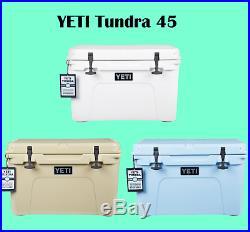 Yeti Tundra 45 quart Cooler Ice Chest - White Tan Ice Blue - YT45W YT45T YT45B
