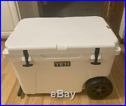 Yeti Tundra Haul Cooler with Wheels and Pull Handle White