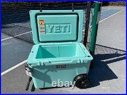 Yeti Tundra Haul RARE discontinued Seafoam color summer wheeled cooler 55qt