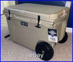 Yeti Tundra Haul Wheeled Cooler Desert Tan New Never Used