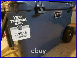 Yeti Tundra Haul Wheeled Cooler Navy New