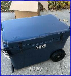 Yeti Tundra Haul Wheeled Cooler Navy New In Box