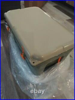 Yeti Tundra YT45HC 45 Quart Tan Cooler Green